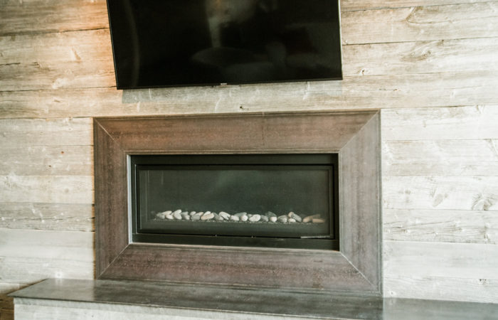 C Channel Fireplace Surround. Raw Steel With Penetrol Finish.