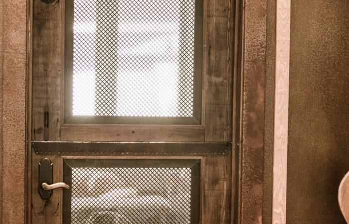 Door Screen Frames. Flatbar Frame With Wire Mesh Infill.