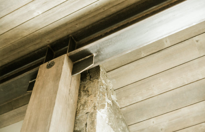 Exposed Interior Beam To Wood Post Connection Detail