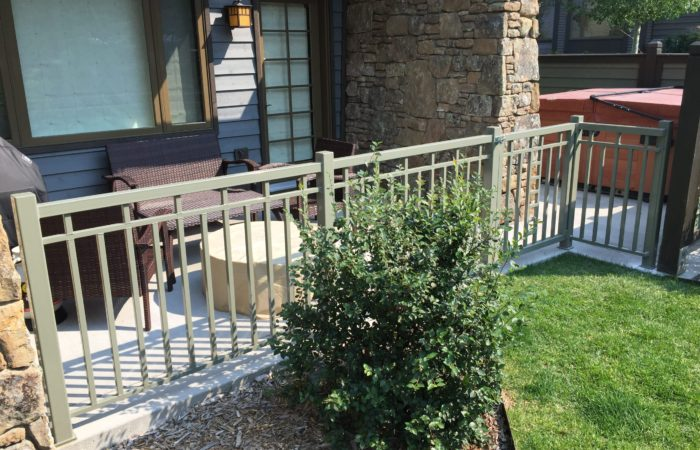Exterior Railing And Gate. Powdercoated Finish.