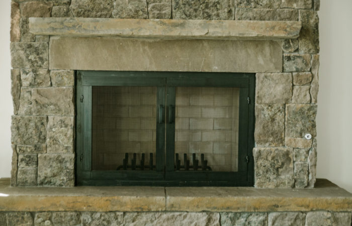 Fireplace Doors. Hot Rolled Steel Finish With Penetrol Finish.