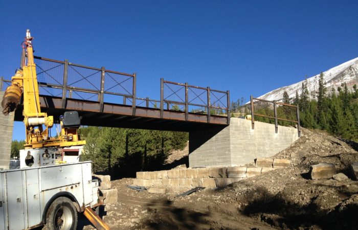 Steel Bridge Frame And Guardrail.