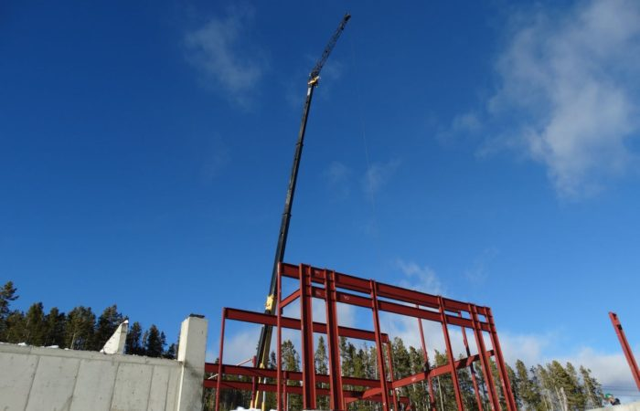 Structural Steel Erection In Progress.